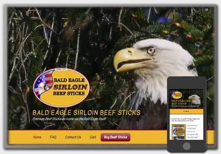 Bald Eagle Sirloin Beef Sticks