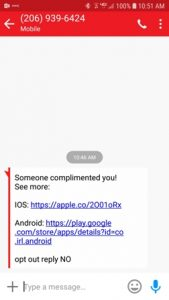 Spam - Someone Complimented you! Read more about this scam