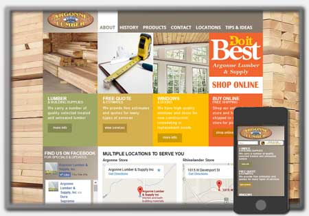 Small Business Website Designs by Northwoods Web Designs