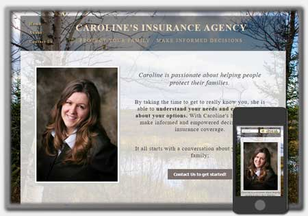 Insurance Agency Designs by Northwoods Web Designs