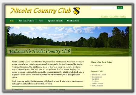 Golf Club Resorts Web Designs by Northwoods Web Designs