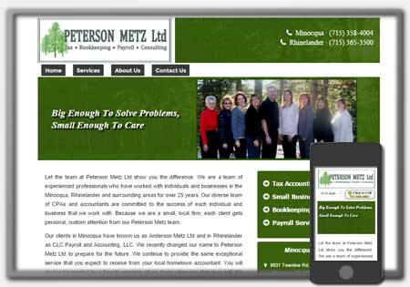 Acounting Firm Web Designs by Northwoods Web Designs