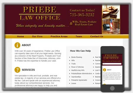 Lawyer and Attorney Website Designs by Northwoods Web Designs