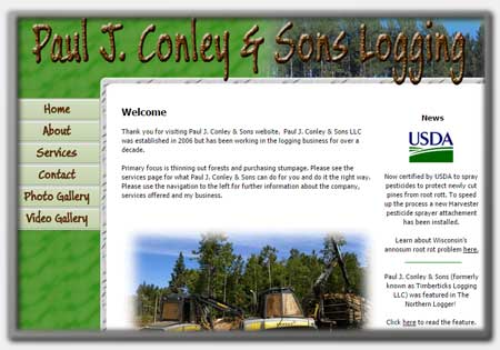 Forestry Web Designs by Northwoods Web Designs